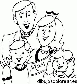 Familias  Dibujos para Colorear