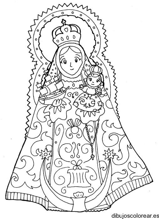 La Virgen Para Colorear Animada Imagui