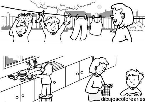Dibujo las de tareas diarias | Dibujos para Colorear