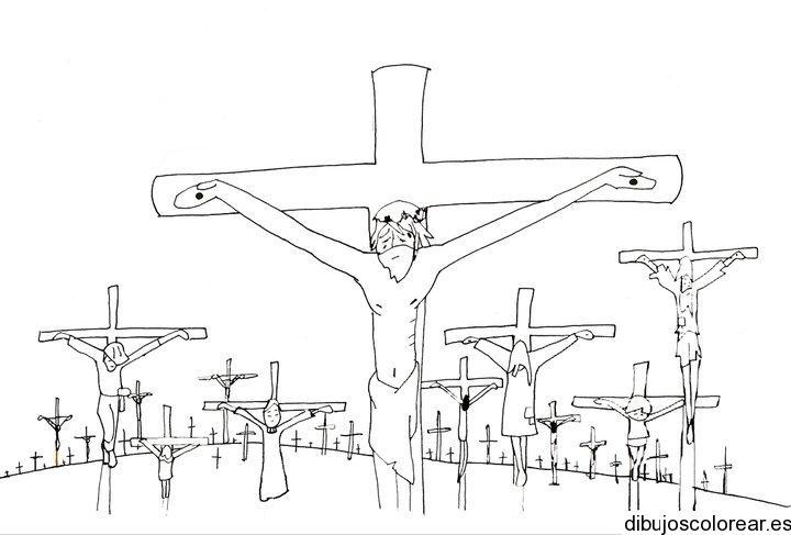 Dibujo de Jess crucificado  Dibujos para Colorear