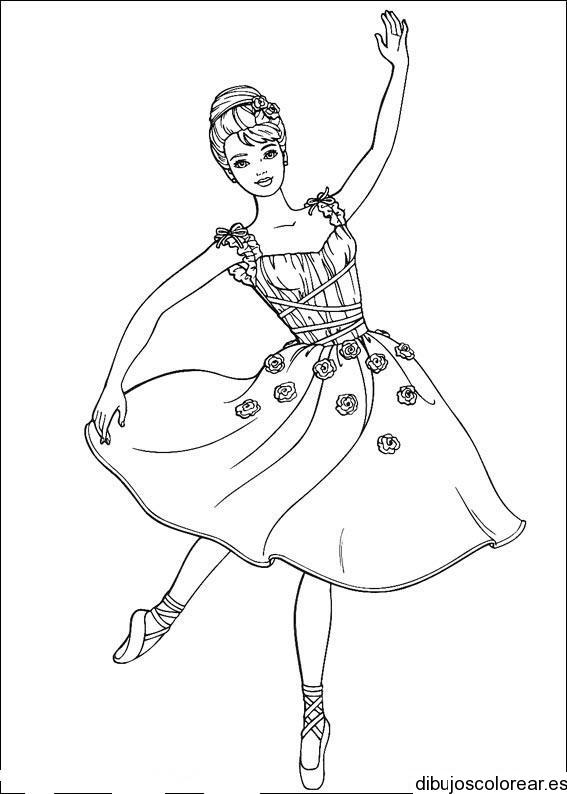 Dibujo de Barbie bailarina de ballet  Dibujos para Colorear