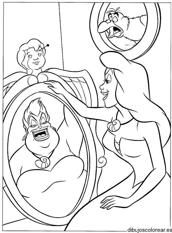 Dibujo de rsula en un espejo - Dibujos para espejos ...