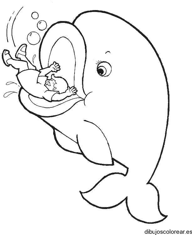 Dibujo de Jons y la ballena  Dibujos para Colorear