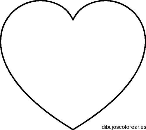 Dibujo de un corazón con fondo blanco