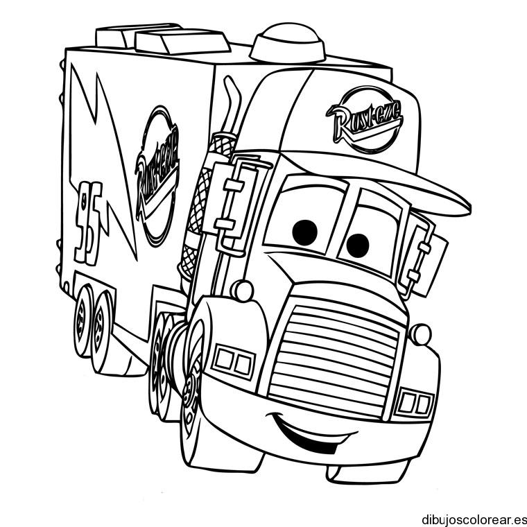 Dibujo de un camión por la carretera