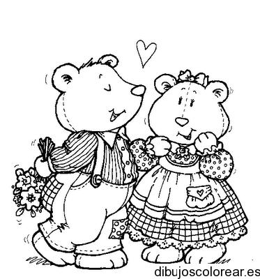 Dibujo De Ositos Enamorados