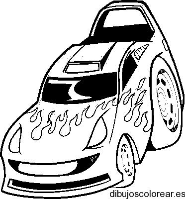 Dibujo de un coche de carreras  Dibujos para Colorear