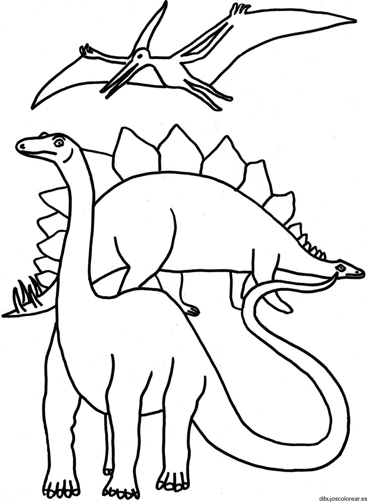 Dinosaurios para colorear e imprimir