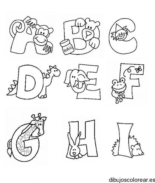 Dibujos de Letras | Dibujos para Colorear