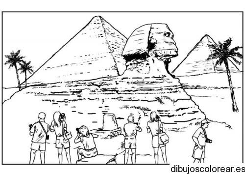 Dibujo de esfinge en Egipto