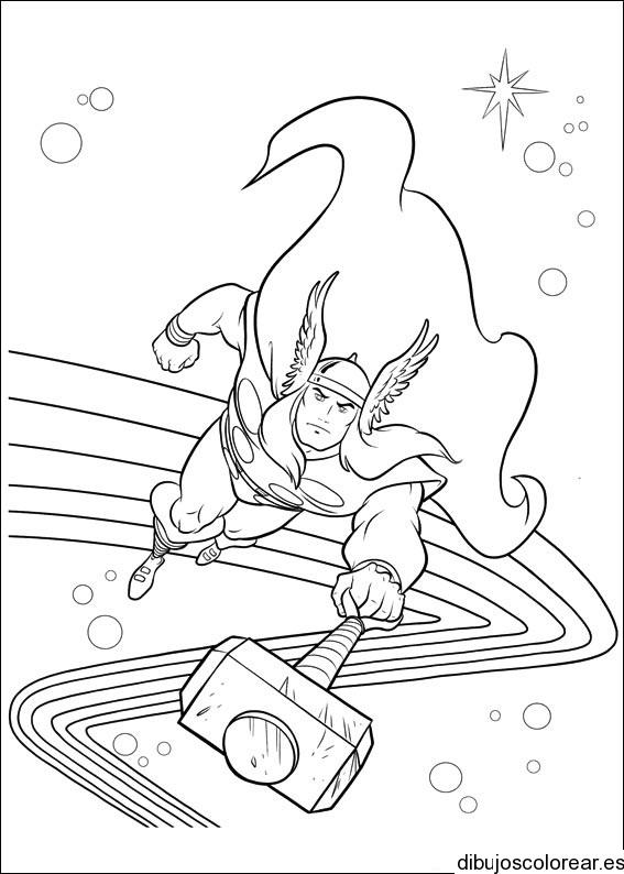 Dibujo De Thor Corriendo