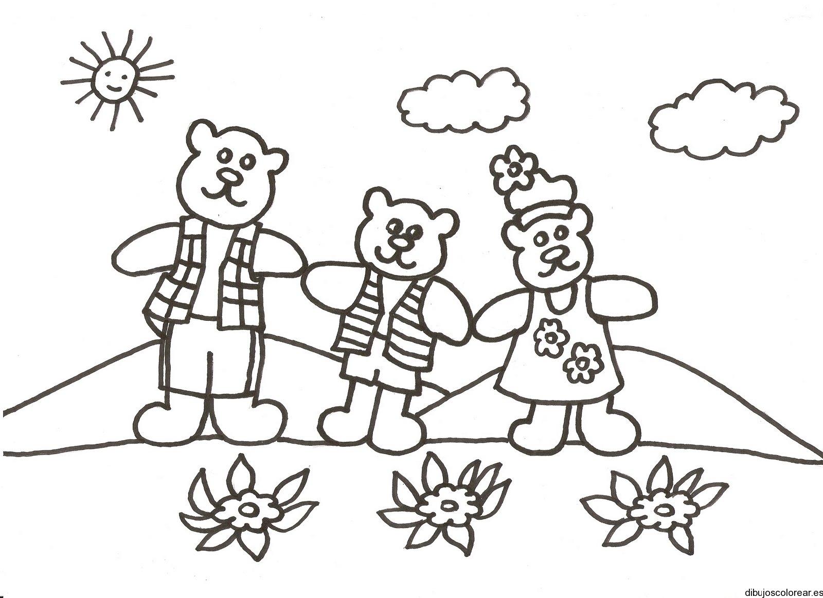 Dibujo de dos osos y una osa