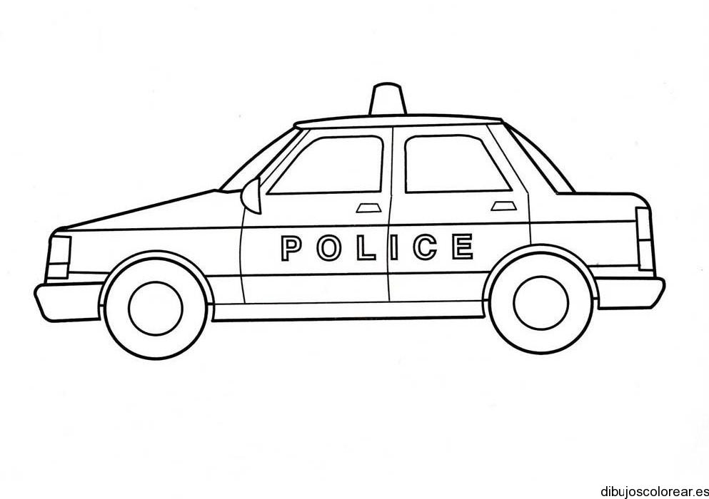 Dibujo de un coche policía | Dibujos para Colorear