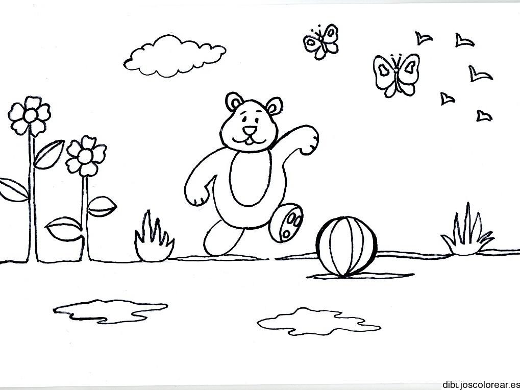 dibujo de dos osos corriendo