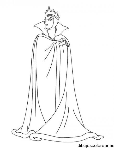 Dibujo de la bruja de Blancanieves  Dibujos para Colorear