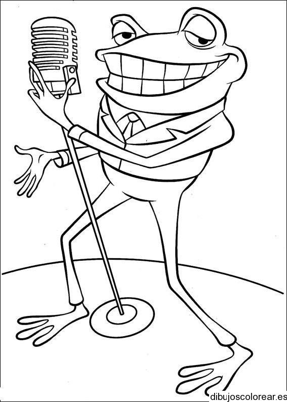 Dibujo de un sapo cantor