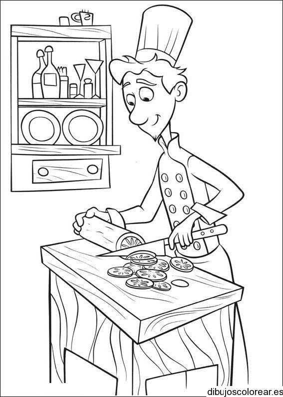Cocinero para colorear imagui - Dibujos de cocineros para colorear ...