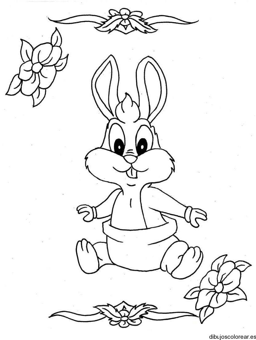 Conejo Bugs Bunny | Dibujos para Colorear