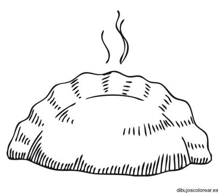 Imágen de empanada para colorear - Imagui