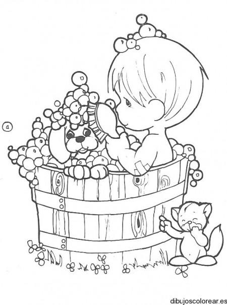 Para colorear dibujos de niño bañandose en regadera - Imagui