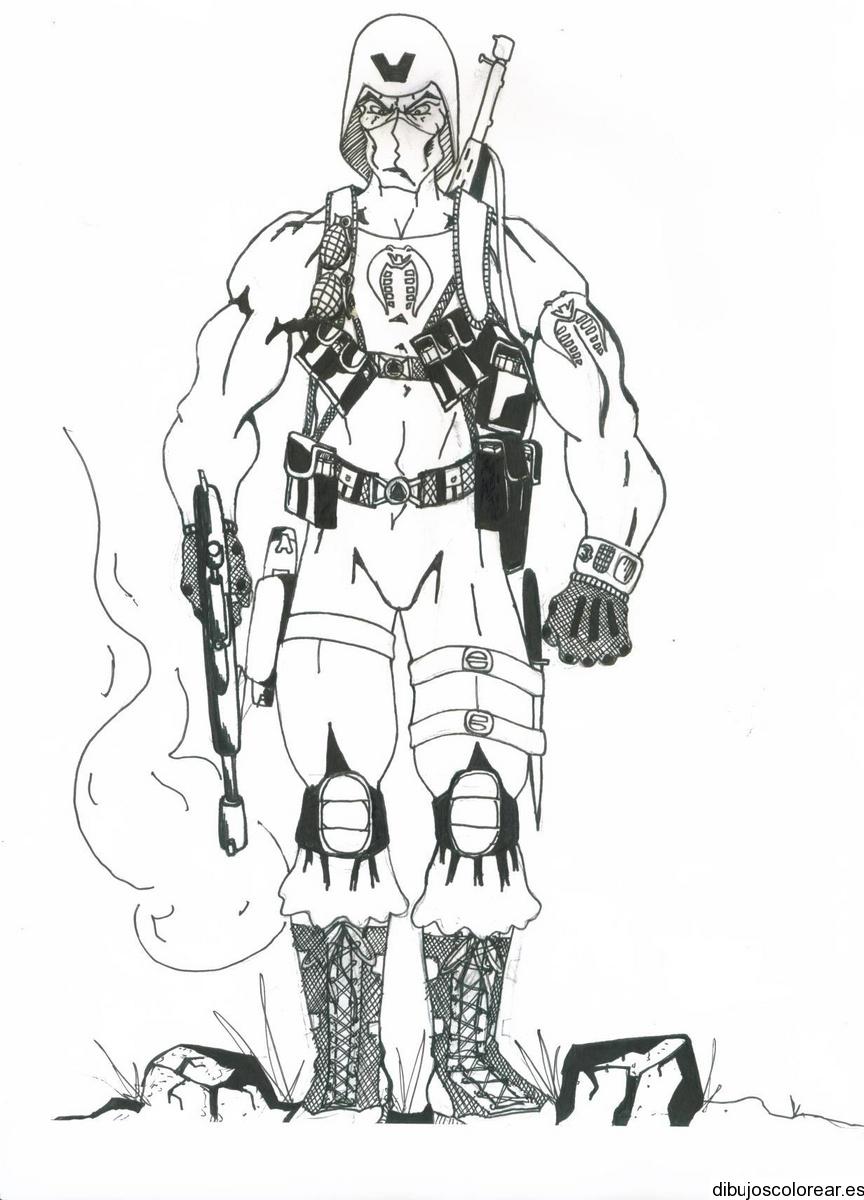Dibujo de un soldado del espacio