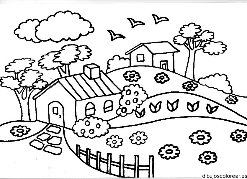 Atractivo Dibujos Para Colorear Jardín De Flores Galería - Dibujos ...