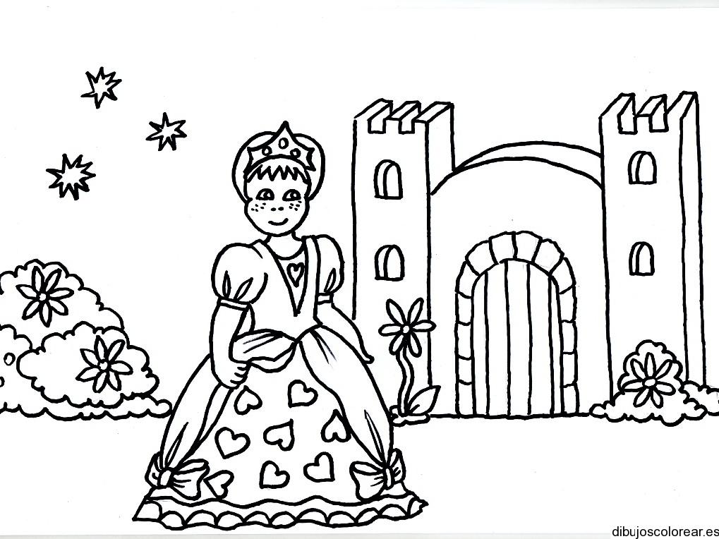 Dibujo De Una Princesa Y Su Castillo