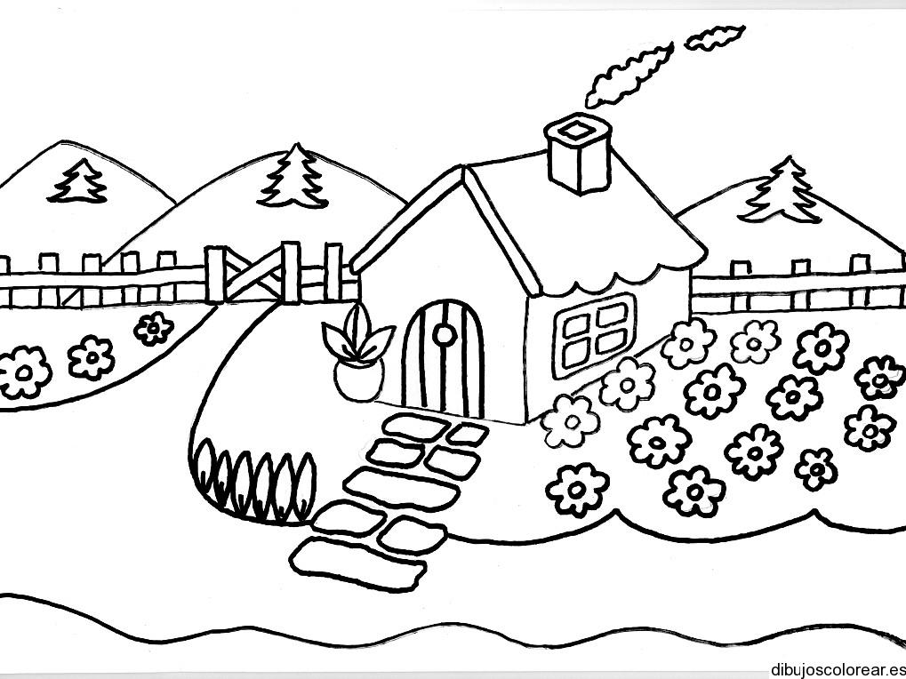 Dibujo de una casa con flores alrededor - Fotos de casas para dibujar ...