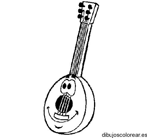 Dibujo De Una Pequeña Guitarra