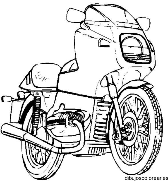Dibujo de una moto sport  Dibujos para Colorear