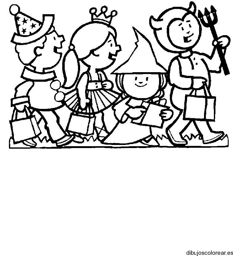 Halloween dibujos para colorear - Dibujos infantiles halloween ...