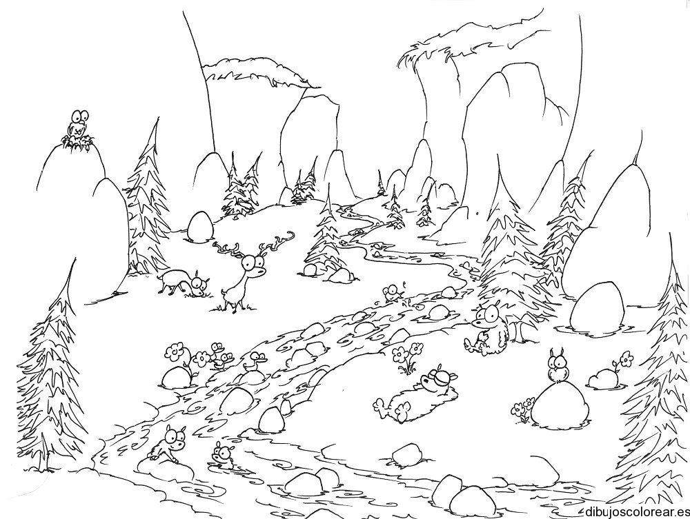 forest background coloring pages - photo#29