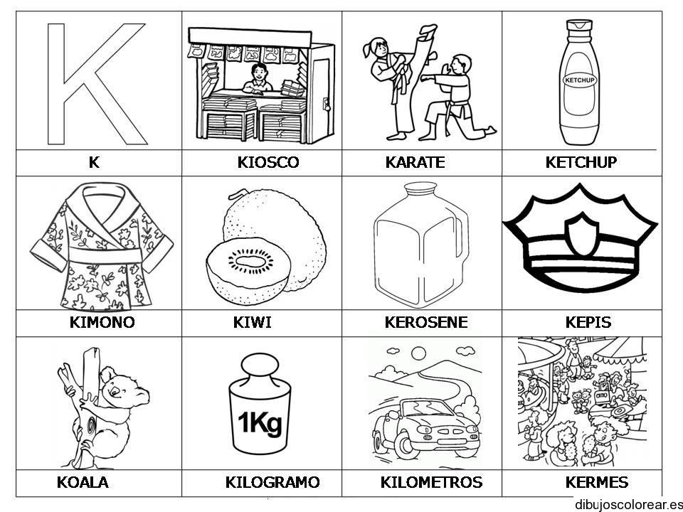 Dibujos con la letra K