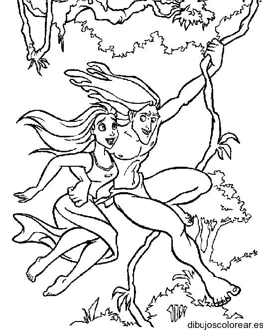 Dibujo de Tarzán y Jane