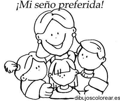 Dibujo De Una Maestra Y Un Alumno