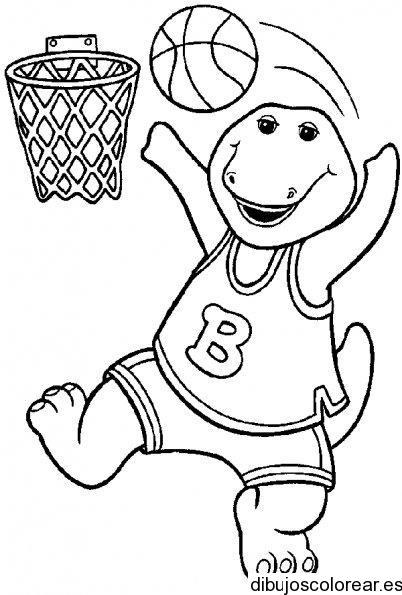 Barney-jugando-a-baloncesto