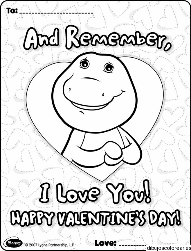 Dibujos de san valentin for Barney halloween coloring pages