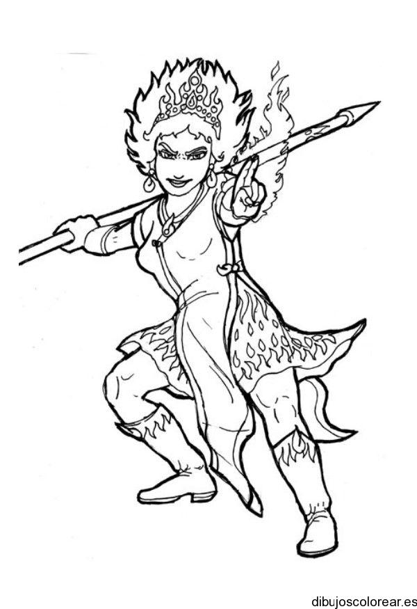 Una chica guerrera anime