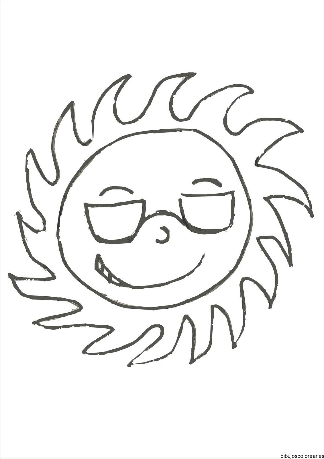 Dibujo De Un Niño Con Vaqueros Y Gafas
