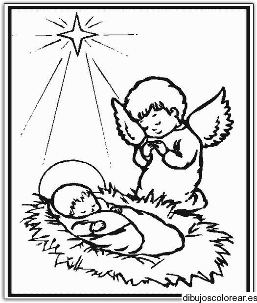 Dibujo el nacimiento de Jesús