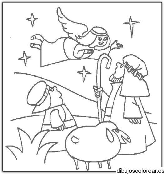 Dibujo De María Y Un ángel