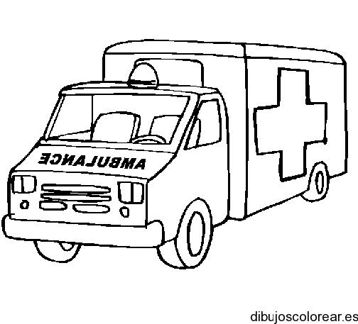 Dibujo De Una Ambulancia Cruz Roja