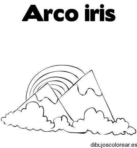 Dibujo De Volcanes Y Arcoiris