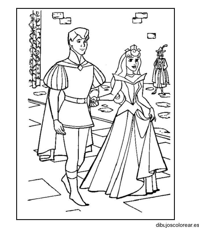 Vistoso Disney Princess Para Colorear Blancanieves Y Príncipe Adorno ...