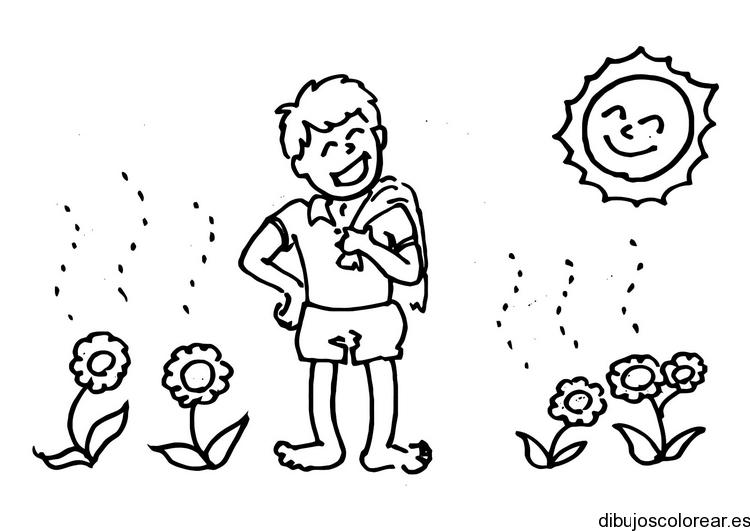 Dibujo De Un Niño Escuchando Radio