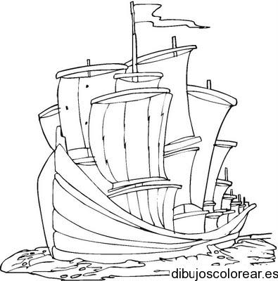 Dibujo de un barco crucero