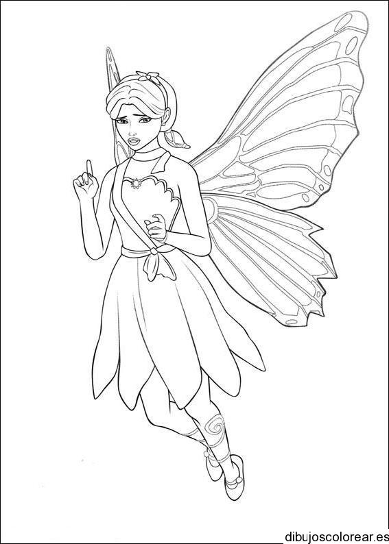 Dibujo de una pequeña hada