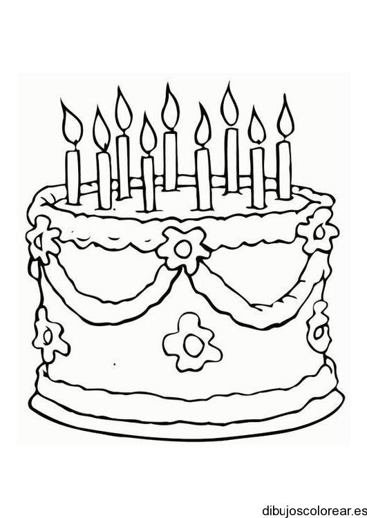 Dibujo de un niño en su cumpleaños