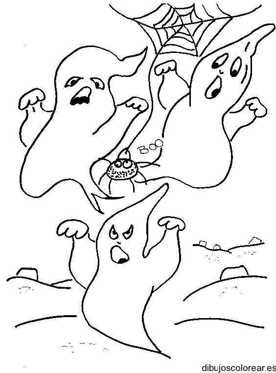 Dibujo de caras de fantasmas