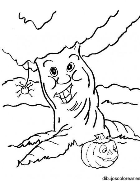 dibujo-colorear-tree-w-spider